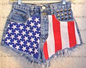 patriotic distressed shorts? hot.