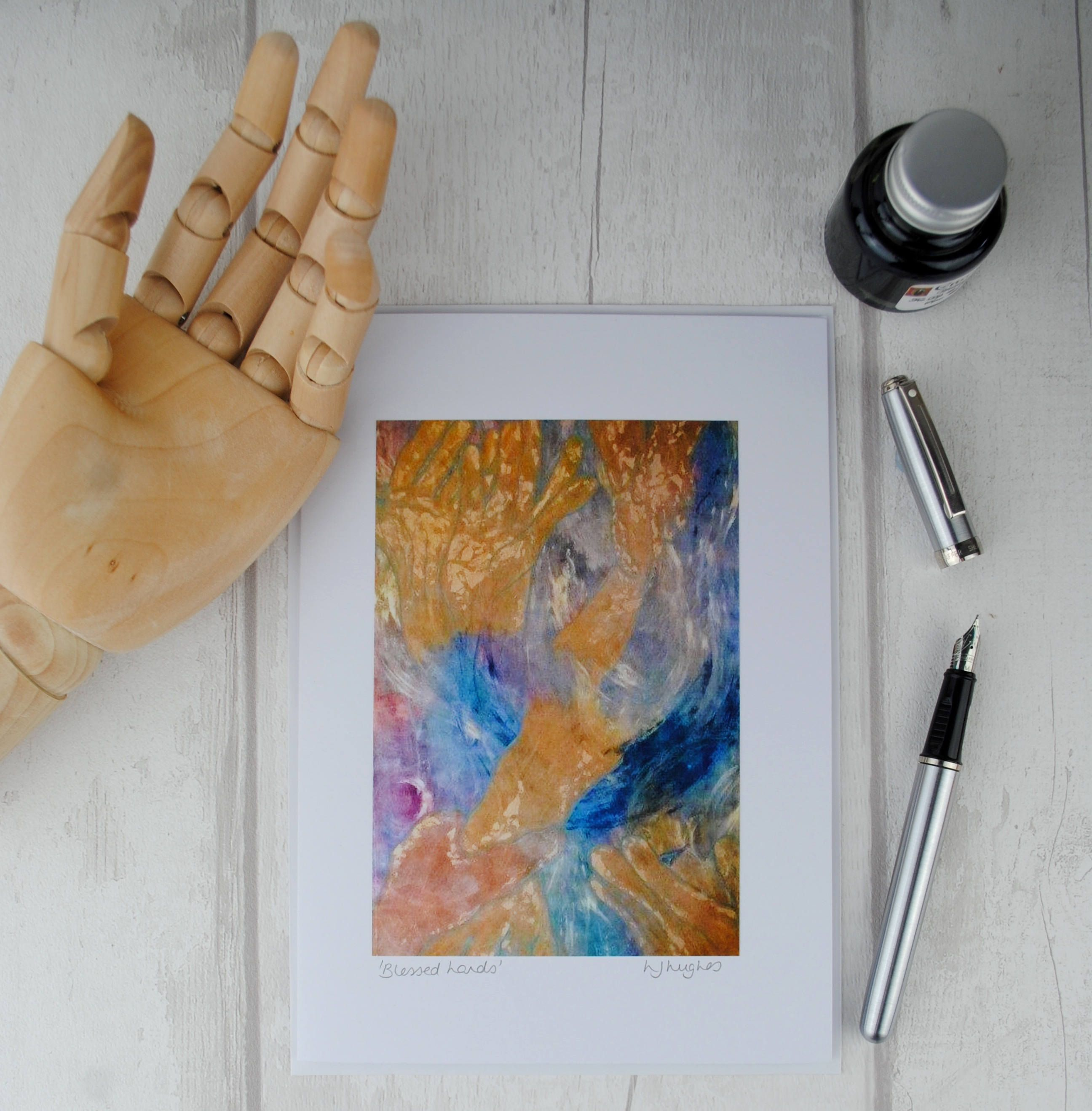 Blank Birthday Greeting Card Handmade Greetings Card Modern Fine