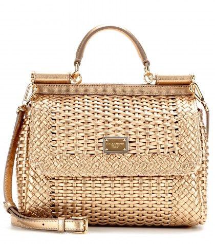 00b467b3c4d7 Dolce   Gabbana ...vintage reinvented! Dolce  amp  Gabbana - Mini Miss  Sicily woven leather shoulder bag ...