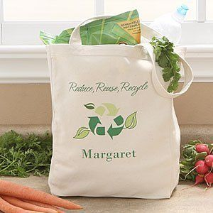 Eco Friendly Personalized Reusable Shopping Bags Go Green By Personalizationmall Com 17 95 Eco Friendly Shopping Canvas Shopping Bag Reusable Shopping Bags