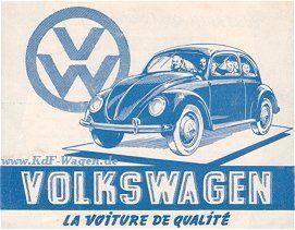 VW - 1948 - Volkswagen - La voiture de qualite - [1302]-1