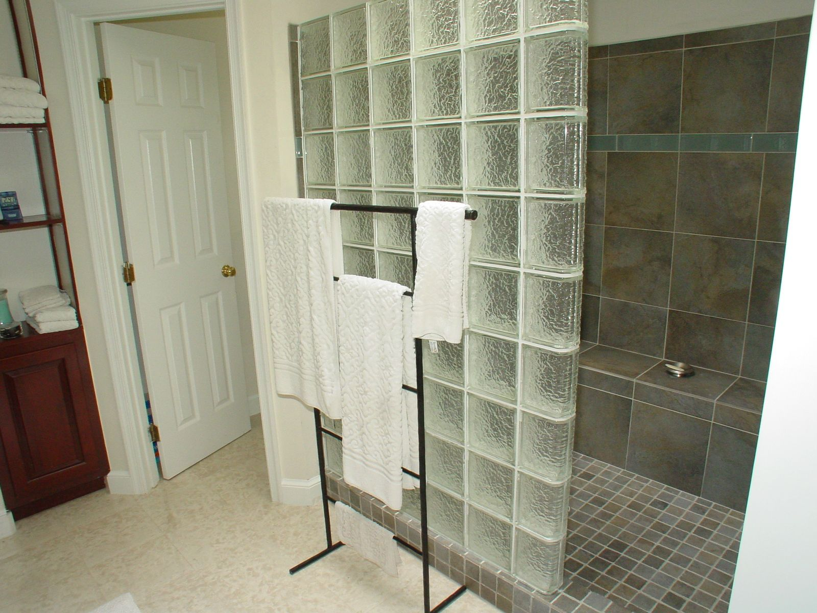 glass block showers glass block shower enclosure