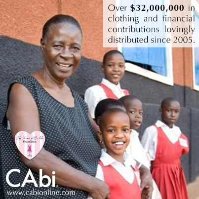 The Heart of CAbi Foundation helps disadvantaged women at home and abroad through clothing and financial donations, made possible in part by YOU! When you round up your CAbi order to the nearest dollar with the Make a Change Program, you help women like Rosemary in Uganda who founded a school for orphans.. Learn more about the HOCF here: http://www.cabionline.com/foundation/