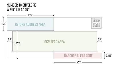 Chip O Toole S Blog Number 10 Envelope Usps Guidelines Number 10 Envelope Envelope Template 10 Envelope