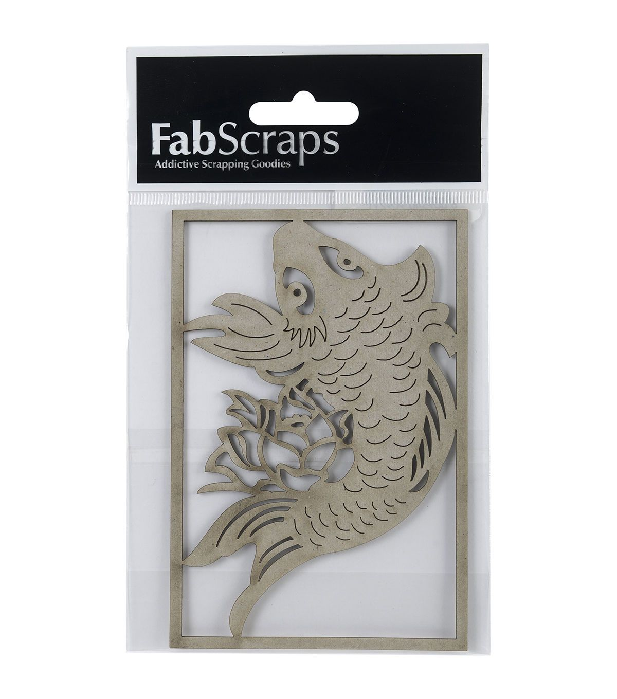 FabScraps Die-Cut Chipboard Embellishments-Koi Fish