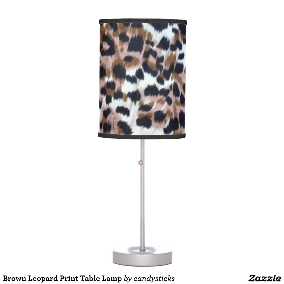 Brown leopard print table lamp leopard prints brown leopard and brown leopard print table lamp geotapseo Gallery