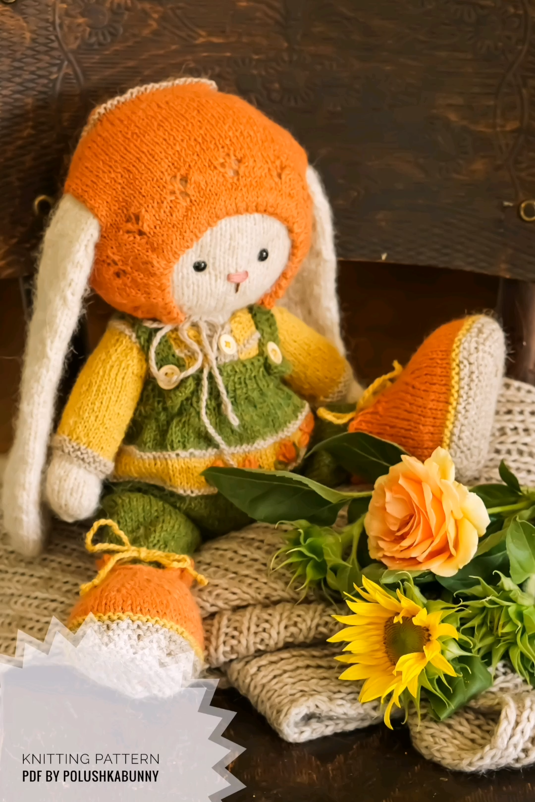 Photo of Knitting Pattern pdf Cozy Outfit Knitting Pattern by Polushkabunny #knitting #pattern #easter #bunny