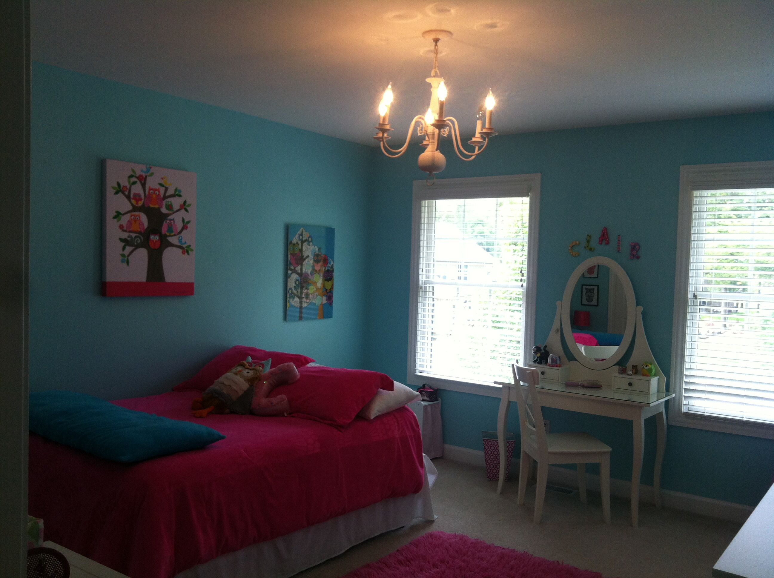 Cute girls bedroom designed by Clair.
