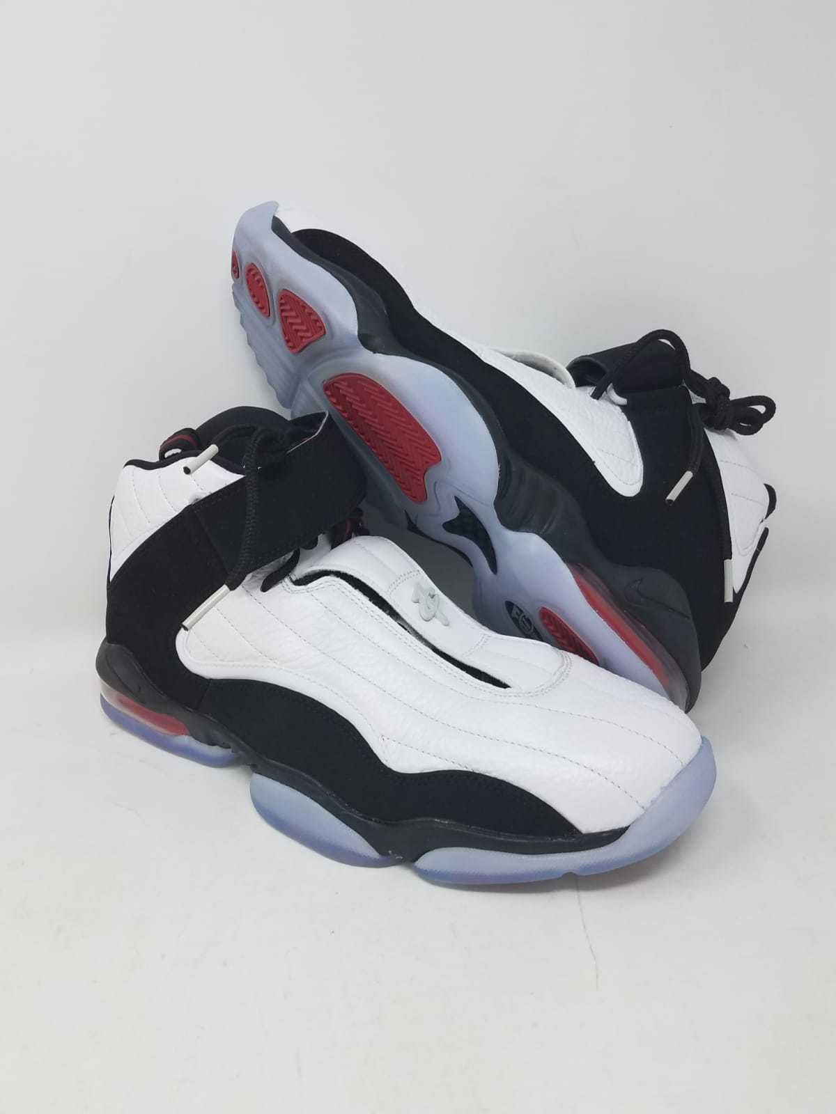ad4cb50fc31 NIKE AIR PENNY 4 WHITE BLACK TRUE RED 864018 101 ATHLETIC RARE MEN S SZ  10.5 WOB