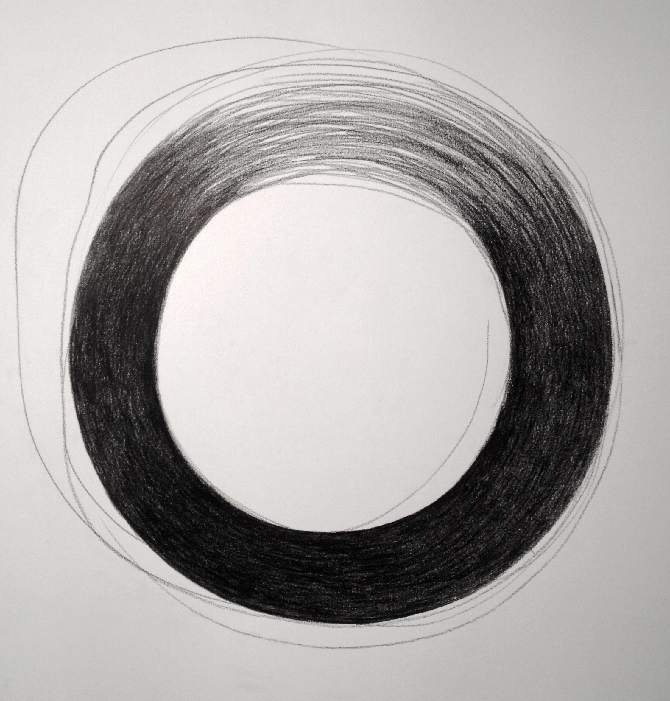 Gerdien van Delft-Rebel, Circle, Pencil on paper, 50x50 cm, 17x17 inch #dailycircle #studiorebel #circleart