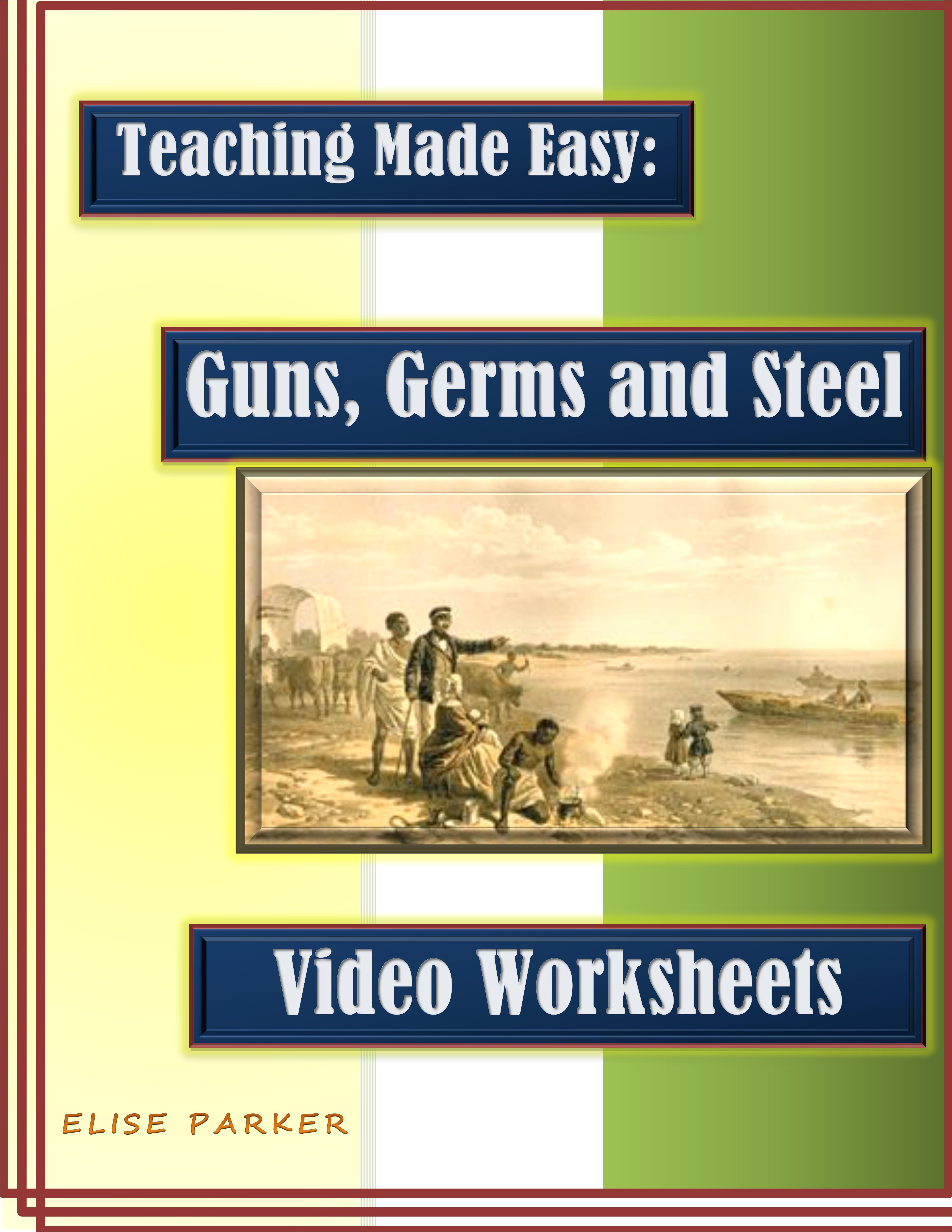 Guns Germs And Steel Video Worksheets Printable