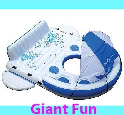 New Giant 6 Person Inflatable Lake Raft Pool Float Ocean Floating Island Huge. WANT! Well, this and a lake I can actually swim in. ;)