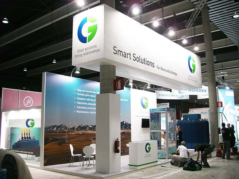 Exhibition Stall In Usa : Custom exhibition stand for cg ewea spain to know more