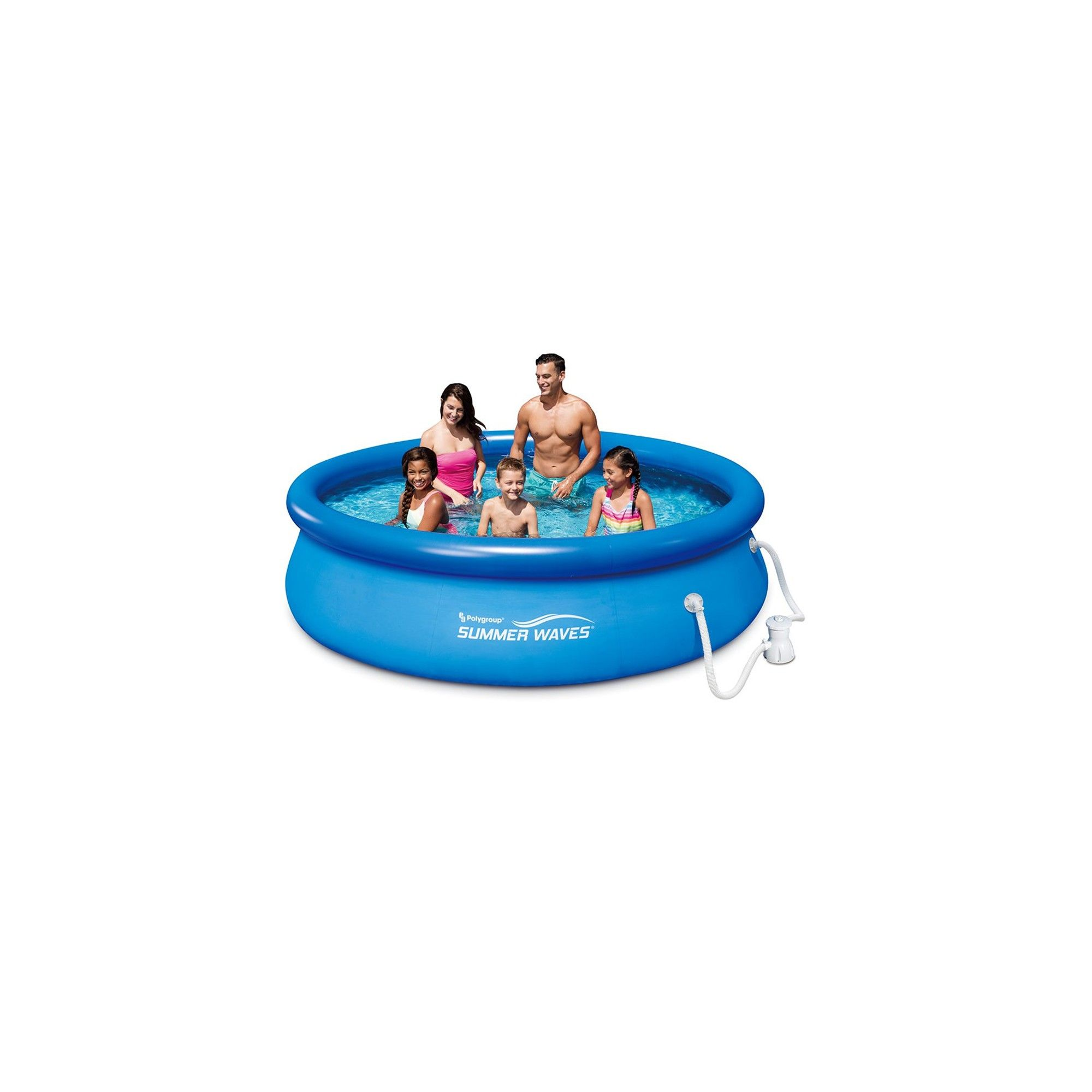 Quick Set Inflatable Above Ground Pool with Filter Pump Summer Waves 10 Ft