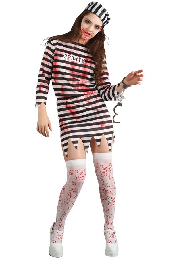 Womens Zombie Convict Costume | Costumes & Make up | Pinterest ...