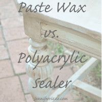 The diference between polyacrylic and paste wax