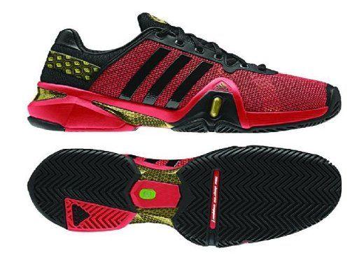 Adidas Men S Adipower Barricade 8 Tennis Shoe Hi Res Red Black