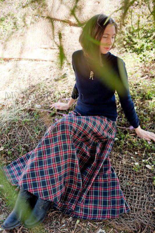 Lovely plaid skirt!