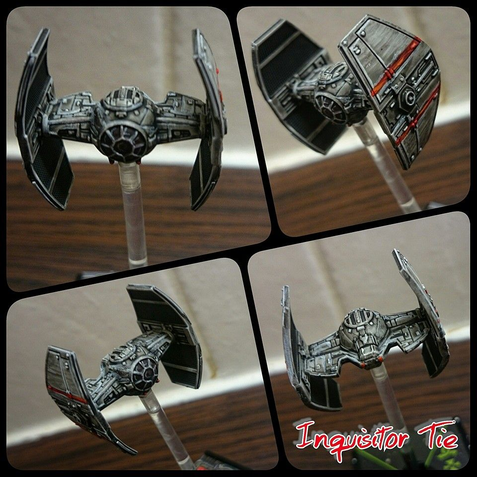 TIE Inquisitor repaint X wing miniatures, Silly games