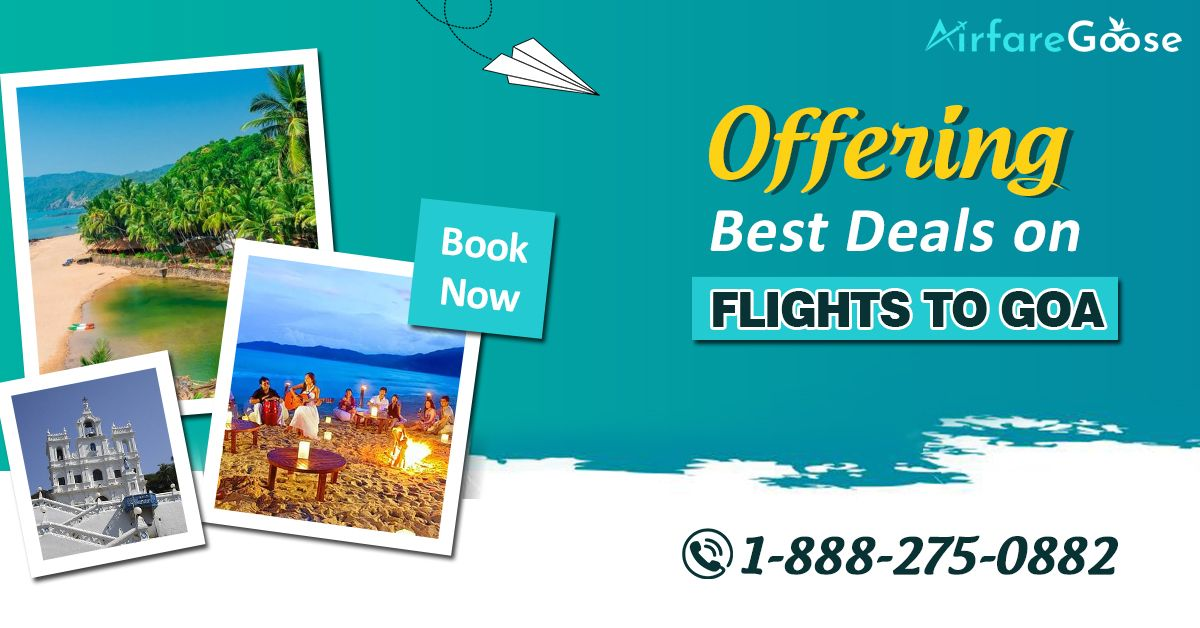 Looking for #Goa vacation deals?  Book your flight at the lowest price with #Airfaregoose. Contact us today!   For more information, call us at -1-888-275-0882 (Toll-Free), info@airfareGoose.  #FlightstoGoa #cheapflightdeals #cheapairfares #cheapflights #flightdiscount #traveling #vacation #deals #airfare #flights #travel #BookNow