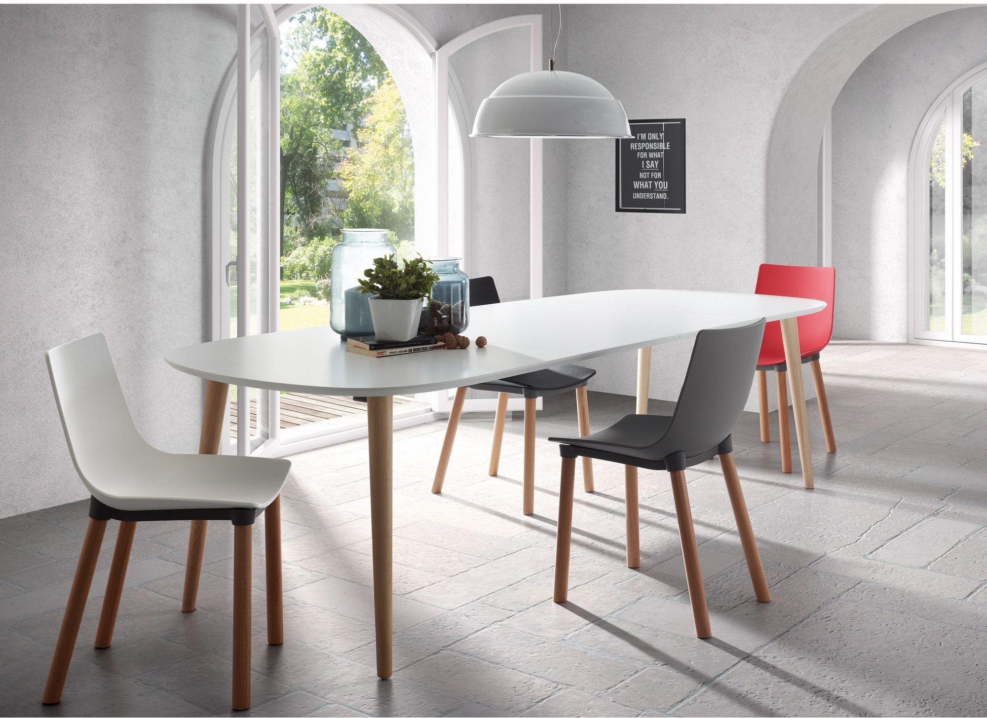 Oqui tafel ovaal laforma wit interieur