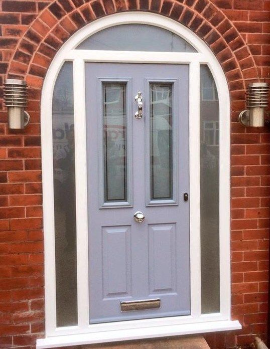 French Grey Solidor With Bespoke Satin Glass Urmston