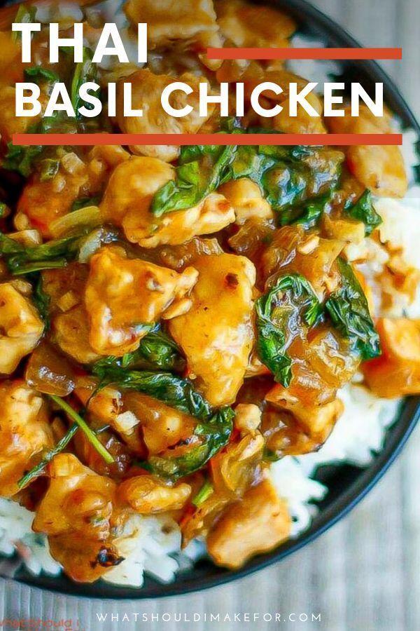 Thailändisches Basilikum-Huhn #hawaiianfoodrecipes