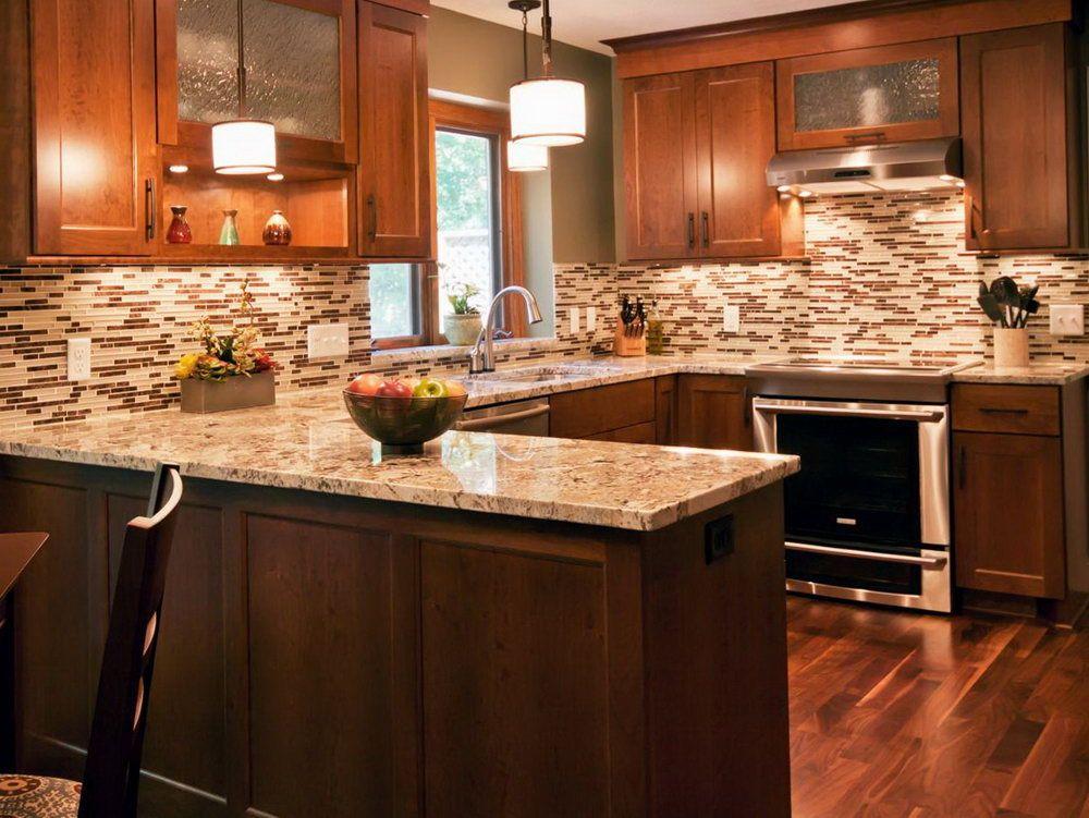 Brown Kitchen Backsplash   Hgtv kitchens, Kitchen design ...