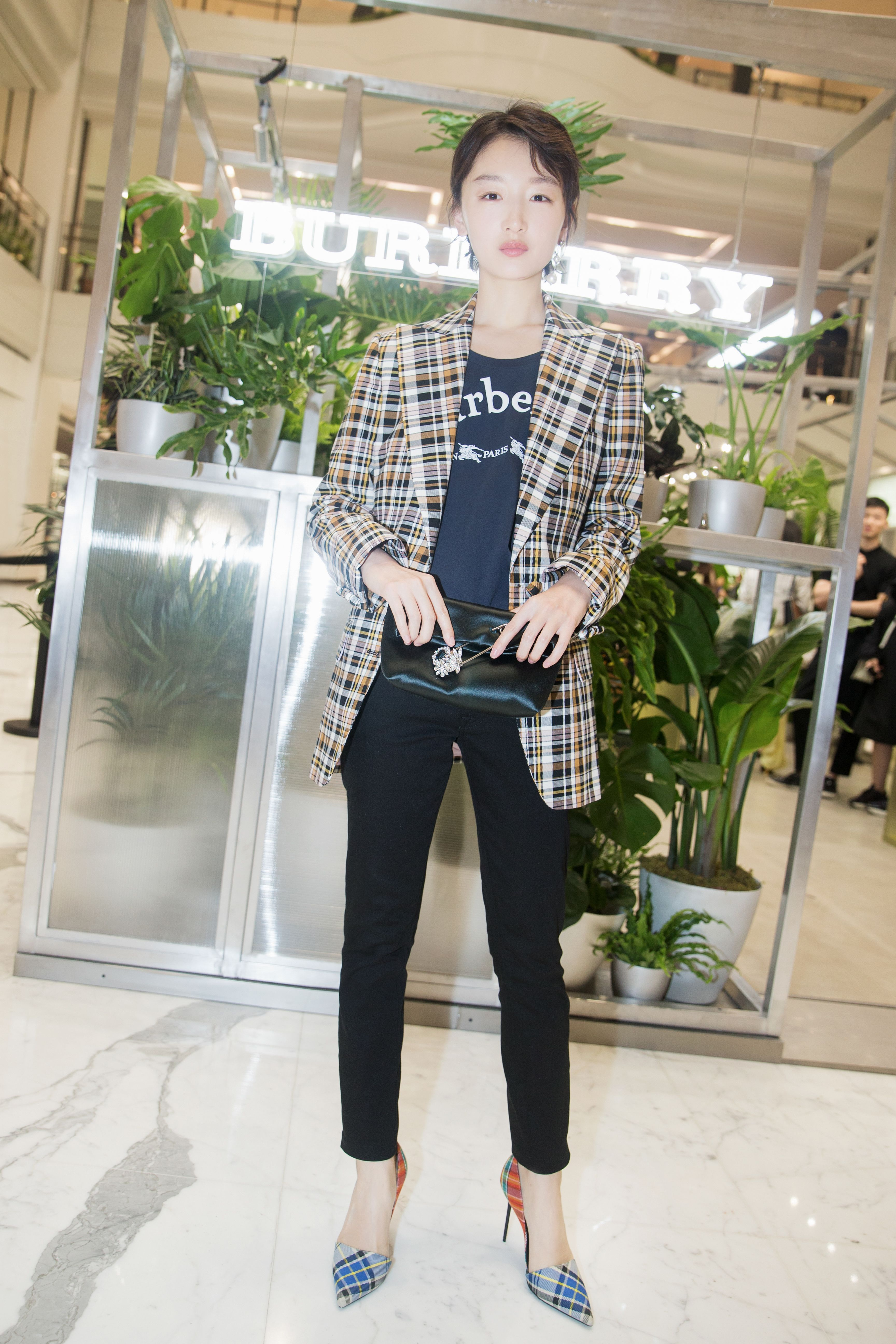 0b745c4d437fb  ZhouDongyu wears  Burberry to celebrate the opening of   TheBurberryConservatory in Beijing