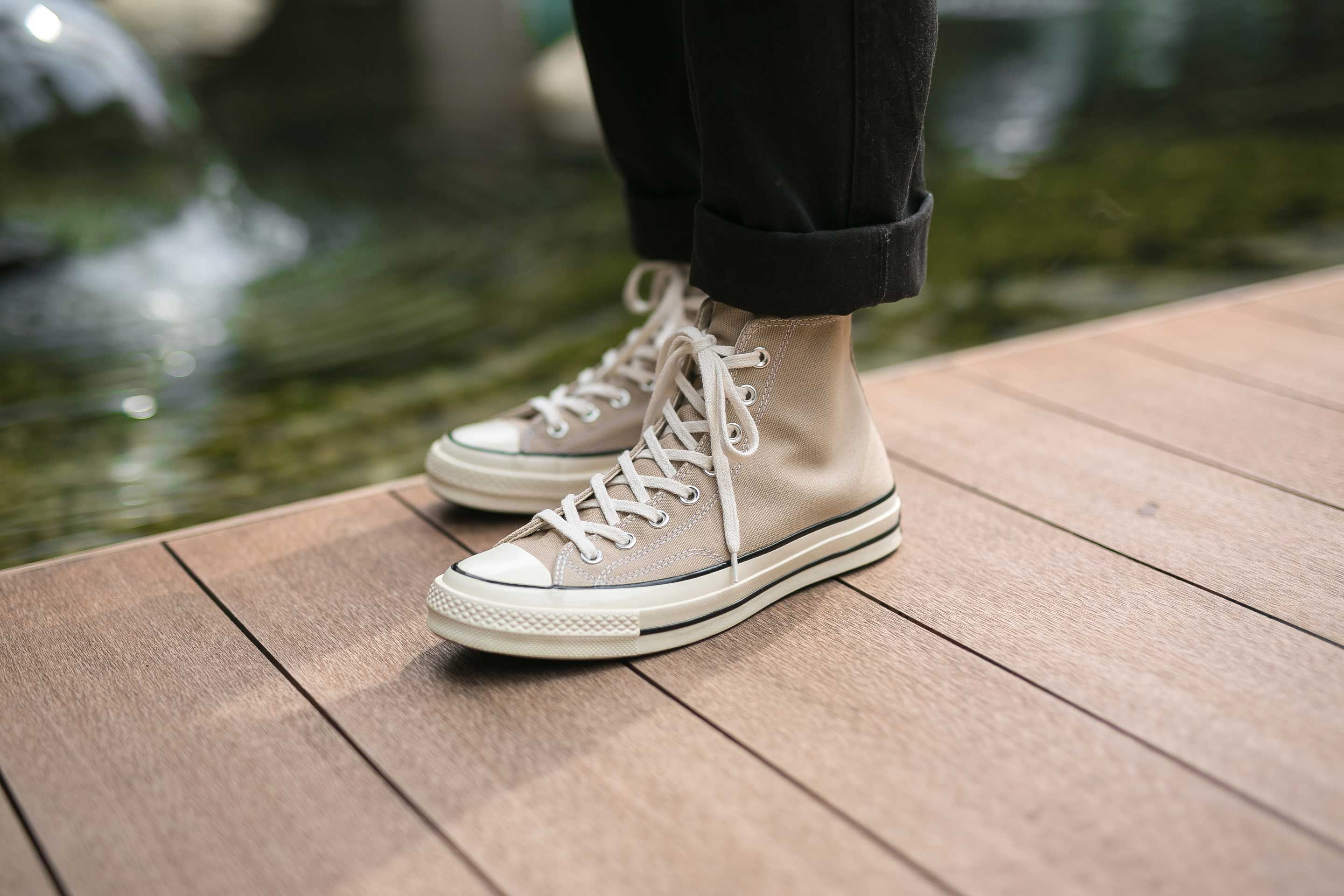 revelación cortar Dólar  High Chuck 70s completely in Vintage Khaki color. - Converse Chuck 70's,  Vintage Khaki. Available in #CROSSOVER Fla… | Sneakers, Exclusive sneakers,  Chucks converse