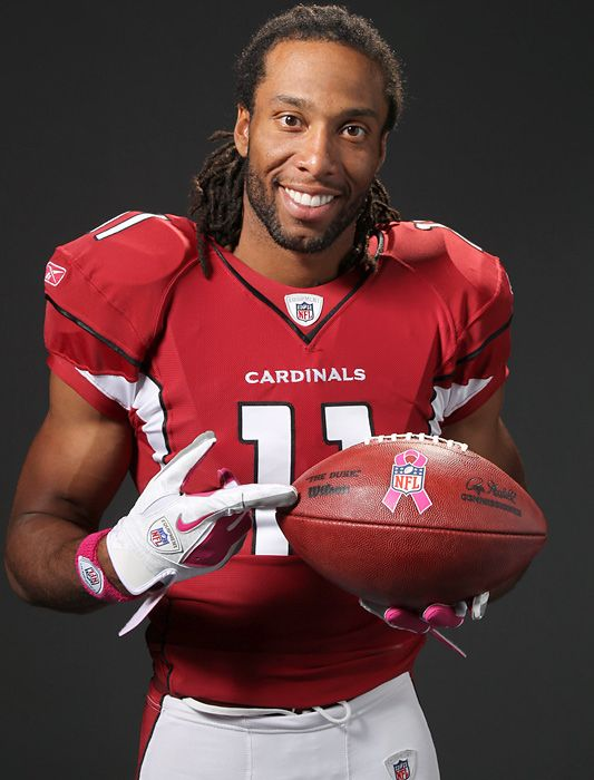 Larry Fitzgerald, Arizona Cardinal. I'm not an Arizona fan, but I'm a Fitzgerald fan. He's pretty amazing. Inside & outside the game.