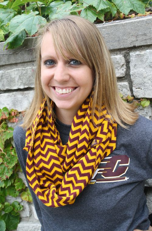5122e1233a2 Maroon & Gold Chevron Infinity Scarf | Brrr..It's Cold Outside ...