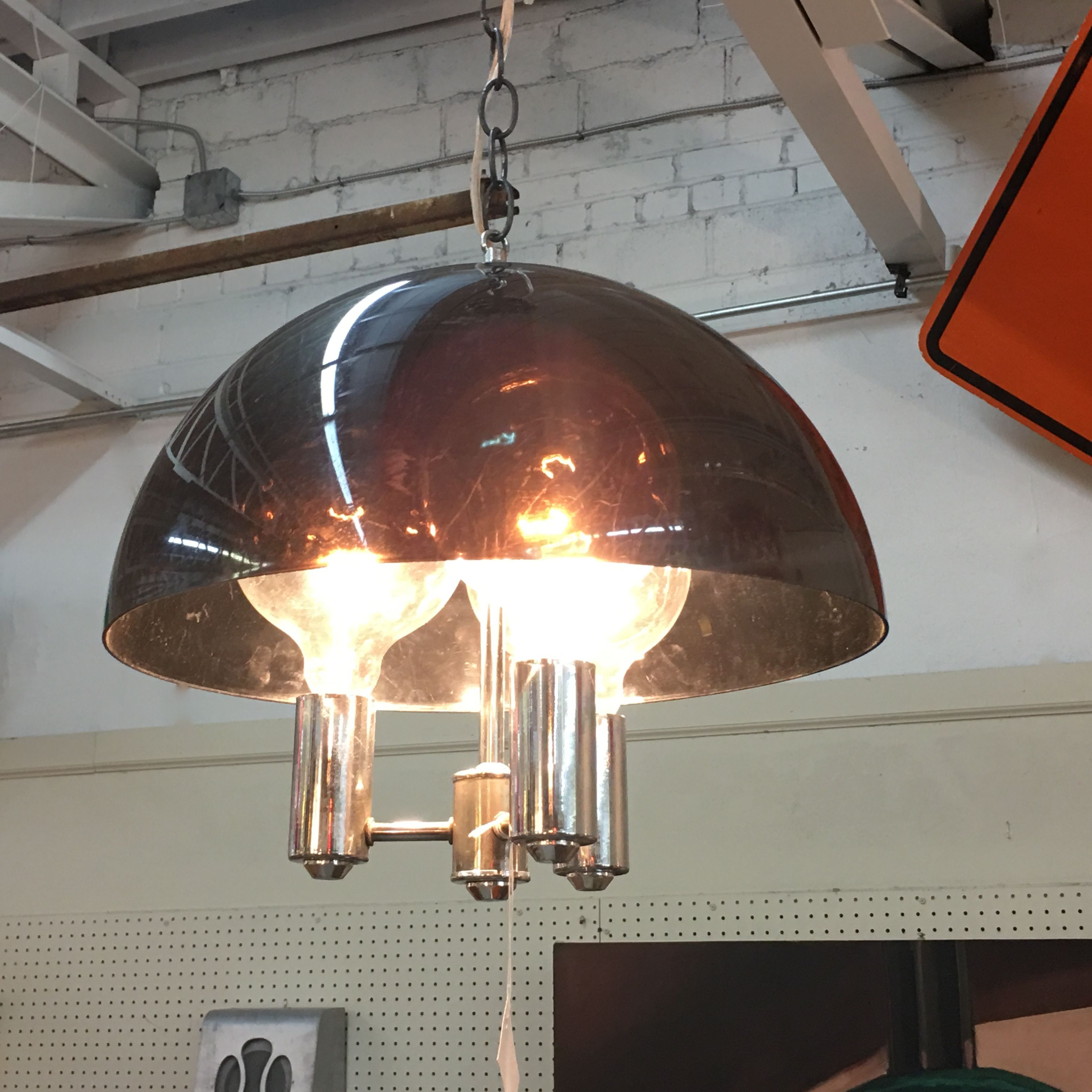 1960s Swag Lamp New Wiring 110 Mid Century Dallas Booth 766 Lula A Gas Bs 1010 N