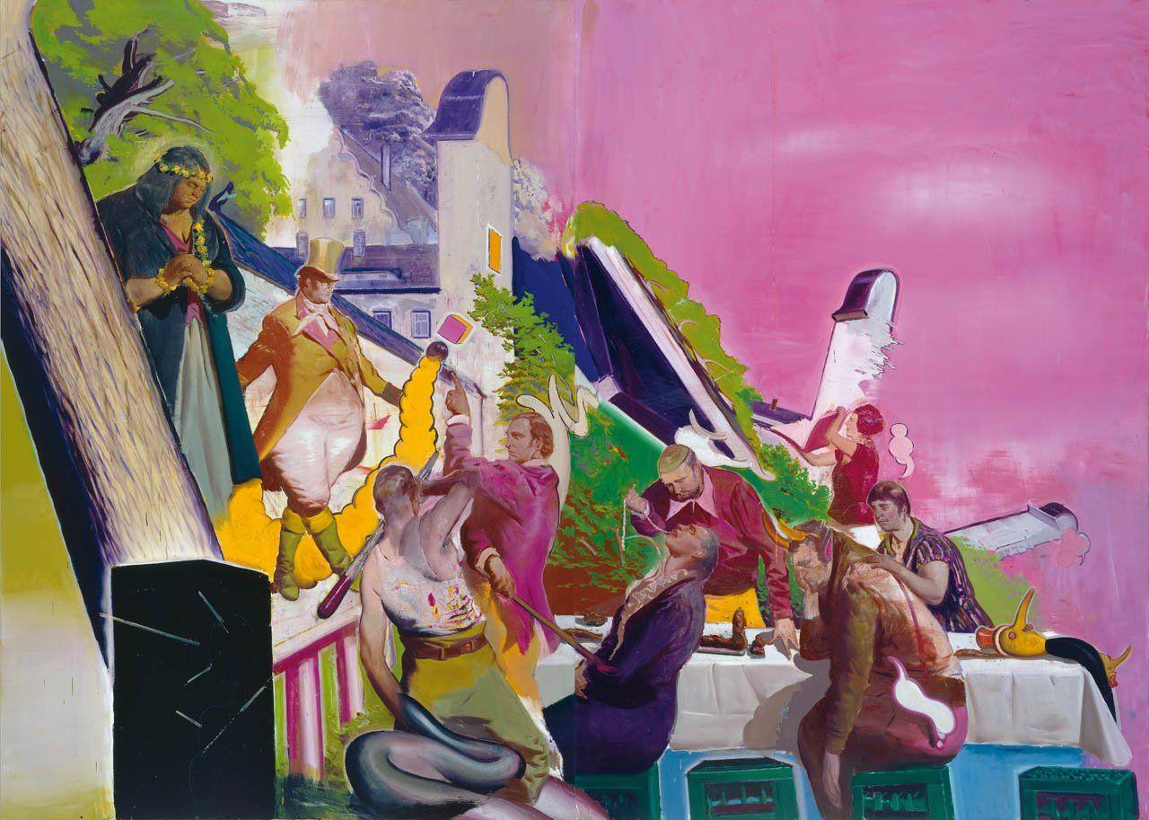 Neo Rauch - Vorführung  2006  Oil on canvas  118 1/8 x 165 3/8 in. (300 x 420 cm)