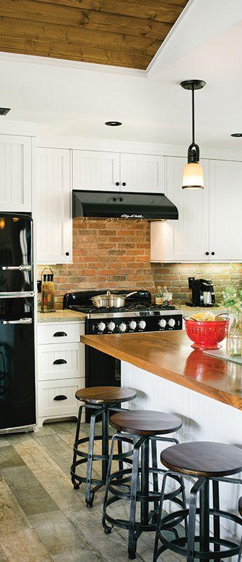 Rustic farmhouse kitchen with Big Chill Appliances ...