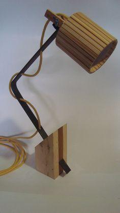 lampara madera diseo velador escritorio mesa artesanal