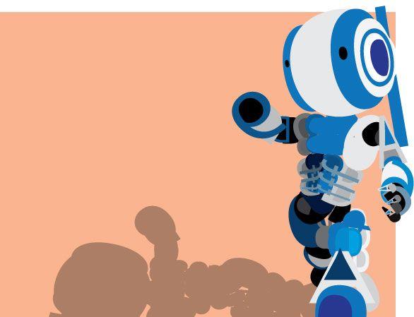 Blue Robot by Unttin7.deviantart.com on @DeviantArt
