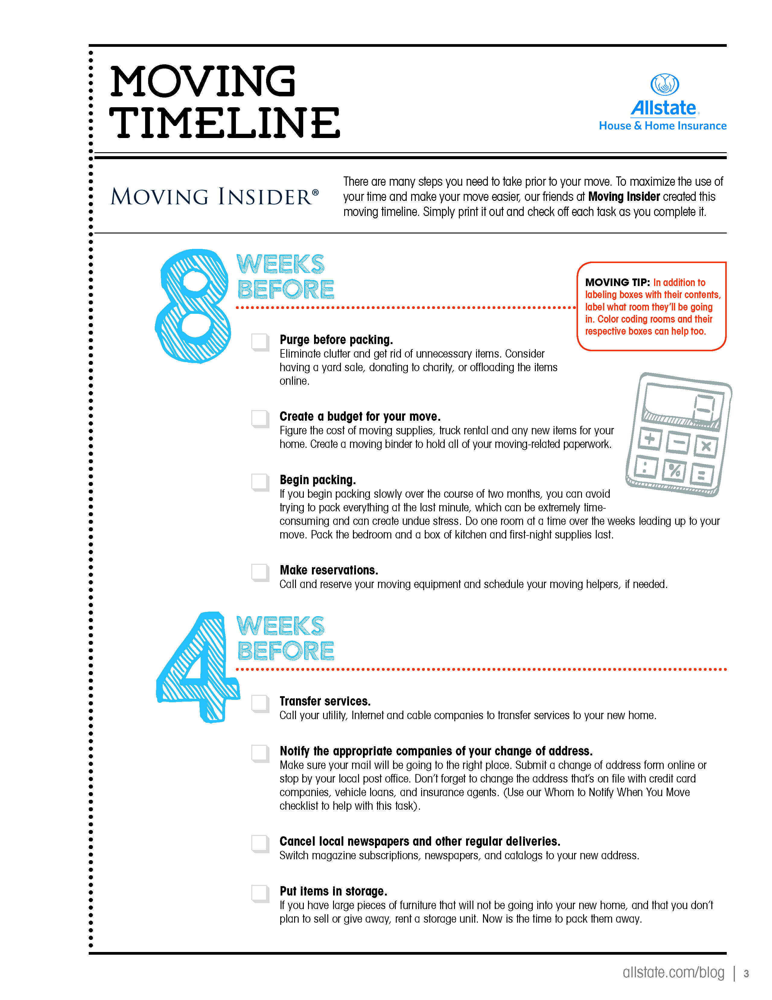Moving Timeline Page 1 Of 3 Loveyourhome Moving Timeline
