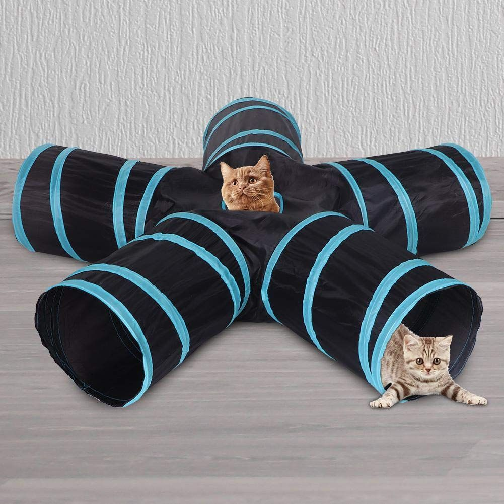 foldable cat tunnel toy 5 ways collapsible cat tunnel tube
