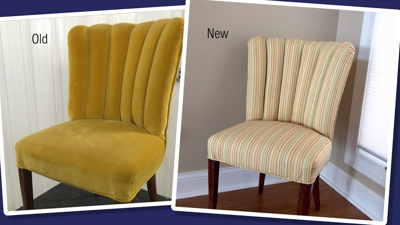 Reupholstering a Channel Back / Fluted Back Chair  Furniture