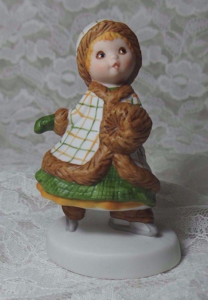 "Fine Porcelain 1983 Hallmark Winters Special Gift ""MARY"" Vintage 3 6/8"" Figurine"