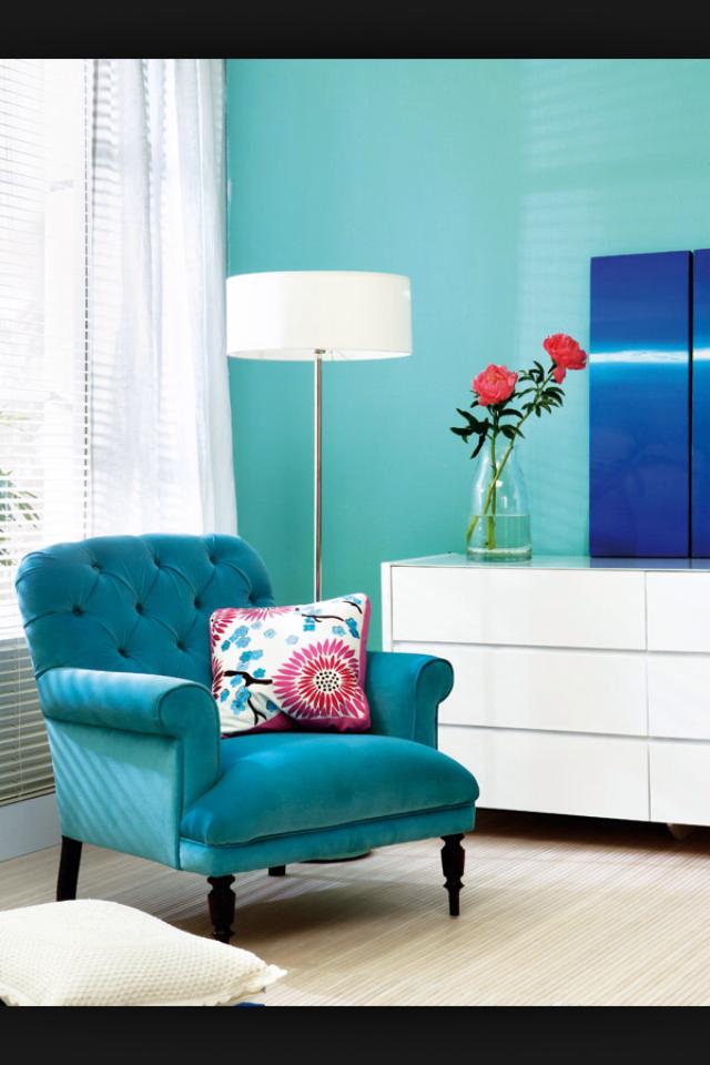 Poltrona azul turquesa para a sala casa pinterest - Sofa azul turquesa ...