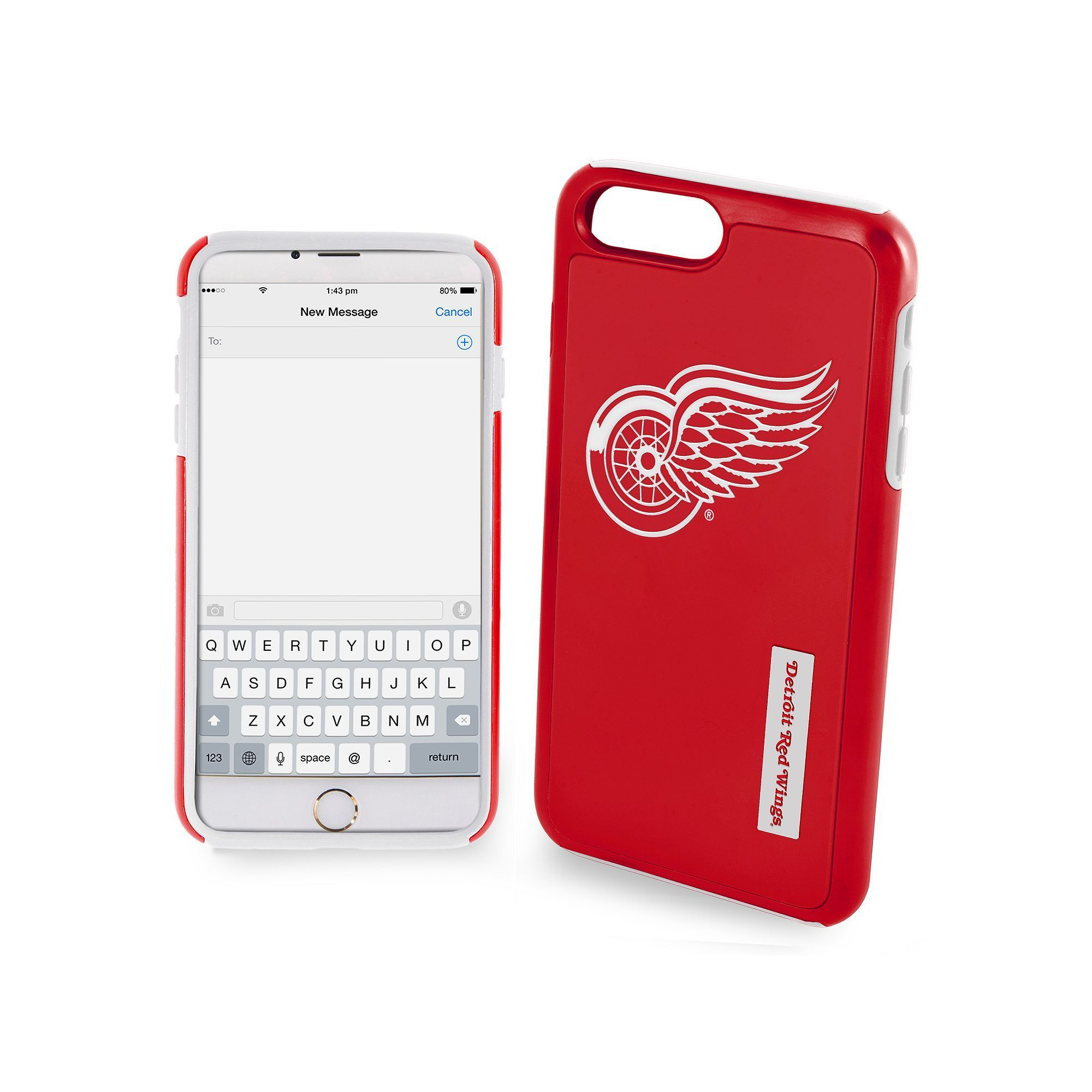 Forever Collectibles Detroit Red Wings Impact Dual Hybrid iPhone 7 Plus Case Multicolor