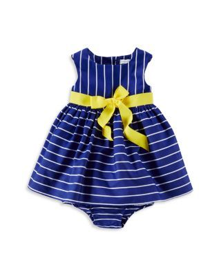 Ralph Lauren Infant Girls  Cotton Stripe Dress   Bloomers Set - Sizes 3-24 a814f61c8d7
