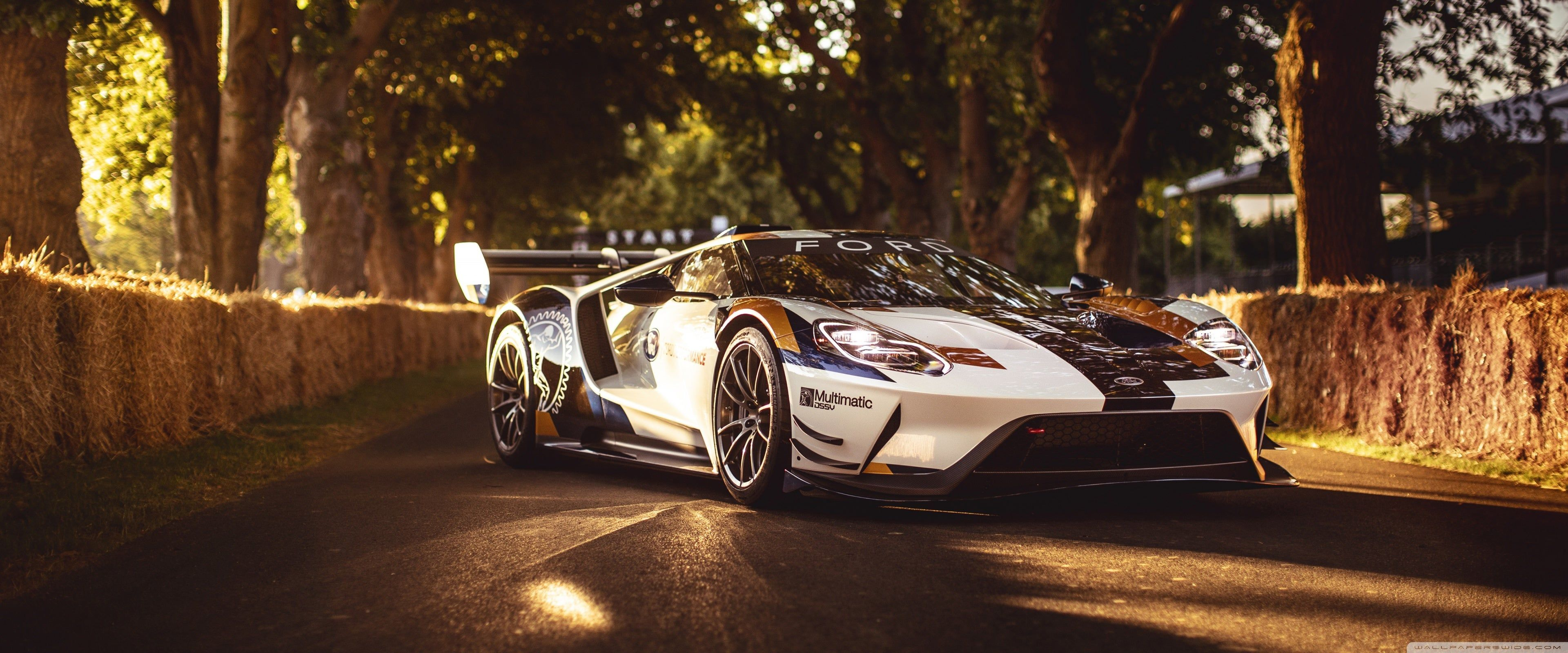 Ford Gt Mk Ii For Dual Monitor 4k Wallpaper Ford Gt Super Cars Ford