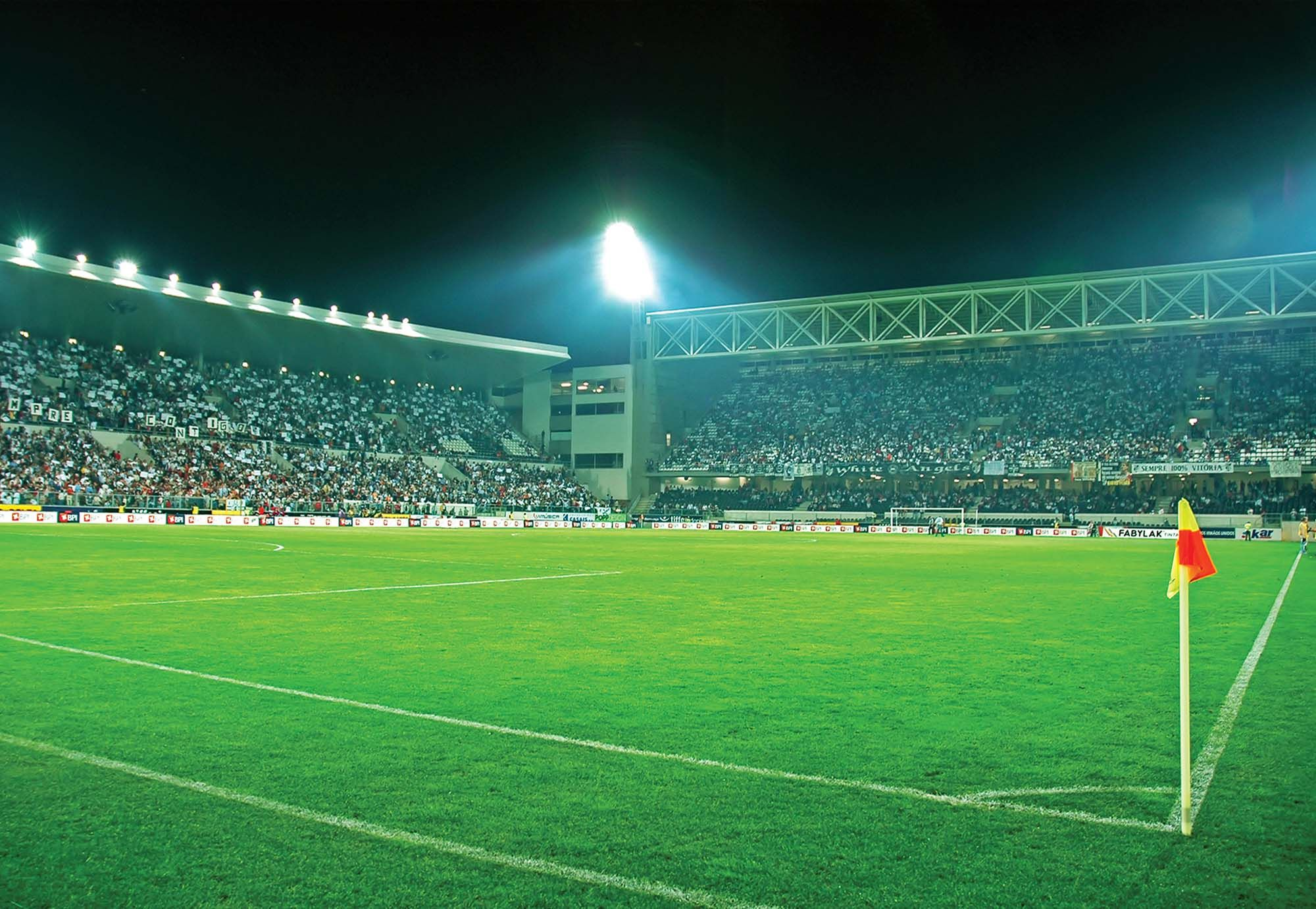 Laeacco Uk Football Soccer Field Stadium Scenic: Football Stadium Wallpaper Murals