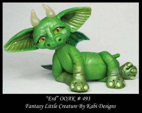 Fantasy Fairy Dragon Dollhouse Mini Art Doll Polymer Clay CDHM OOAK Iadr Erd Fae | eBay