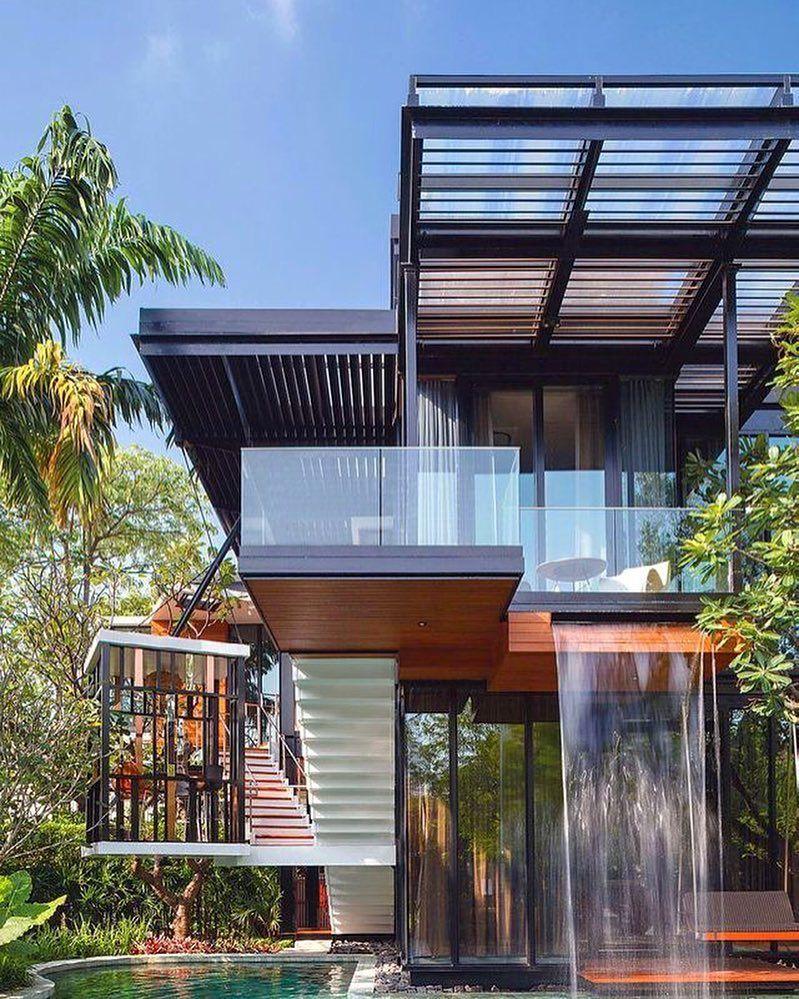 Thailand House Design: The Nest House By Sarayut Architects & Linex Design