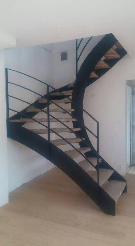 Escalier Metal Et Bois Stair In 2018 Pinterest Stairs Modern