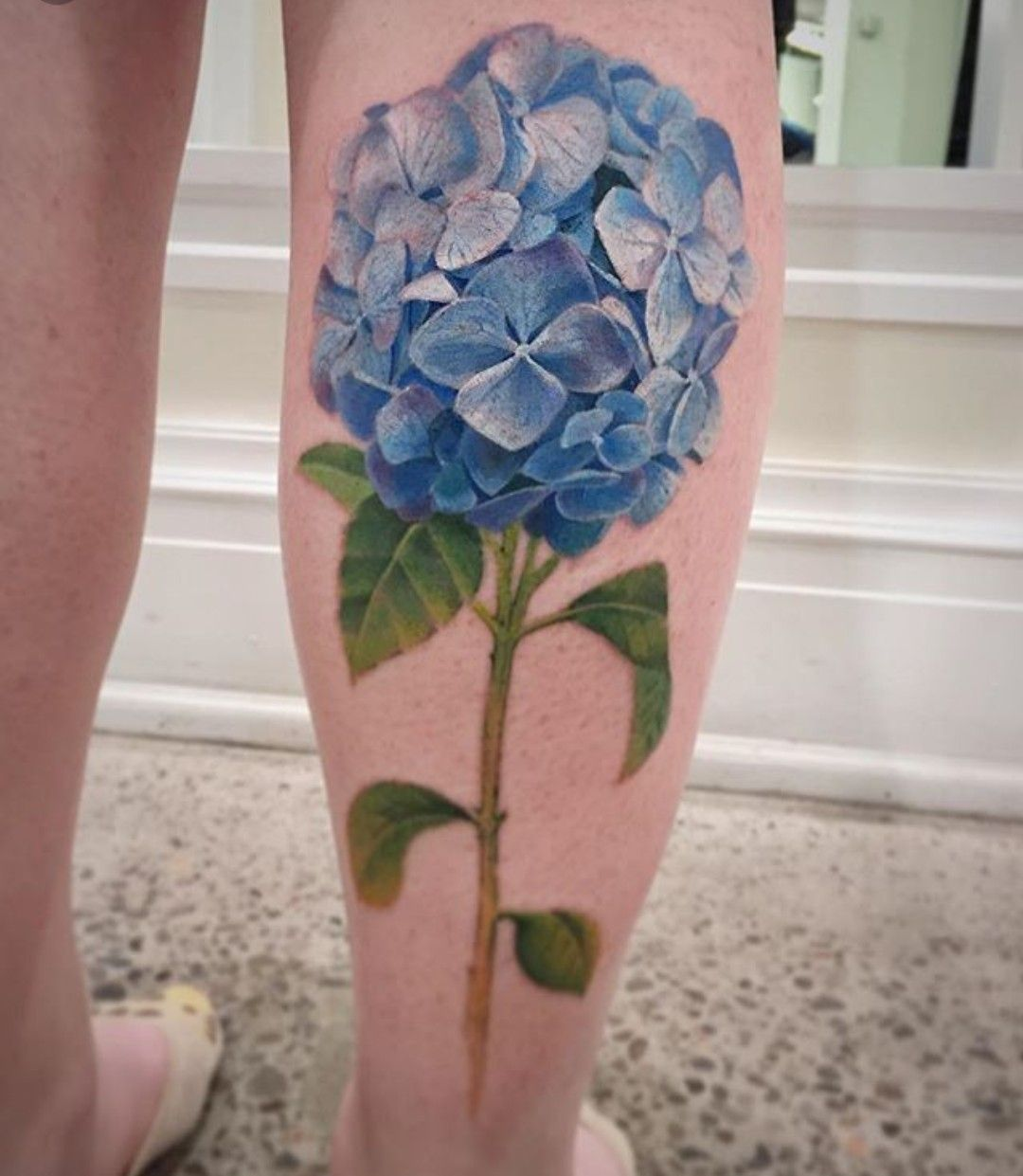 Hydrangea Tattoo Hydrangea Tattoo Realistic Flower Tattoo Beautiful Flower Tattoos
